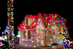 Luci di Natale Fotografie Stock Libere da Diritti