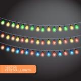 Luci di Natale, fondo di festa, illustrazione di ENV 10 Fotografia Stock