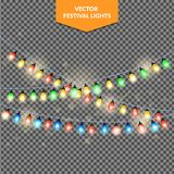 Luci di Natale, fondo di festa, illustrazione di ENV 10 Fotografia Stock Libera da Diritti