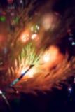 Luci di Natale, fondo unfocused Fotografia Stock
