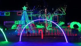 Luci di Natale, natale, spirito di festa stock footage