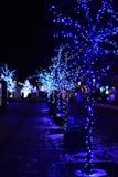 Luci di Natale nel centro urbano. Immagine Stock