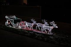 Luci di Natale nella città Fotografia Stock Libera da Diritti