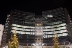 Luci di Natale nella città Immagine Stock Libera da Diritti