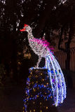 Luci di Natale in Salerno immagini stock libere da diritti