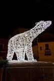 Luci di Natale in Salerno Fotografie Stock