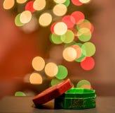 Luci di Natale sfuocato Immagine Stock