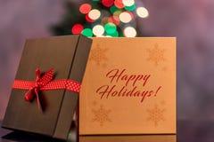 Luci di Natale sfuocato Fotografia Stock Libera da Diritti
