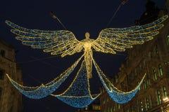Luci di Natale su Regent Street a Londra fotografie stock libere da diritti