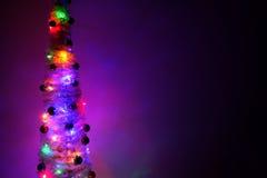 Luci di Natale sull'albero Fotografia Stock