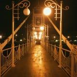 Luci di notte della via belle Fotografia Stock