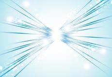 Luci di prospettiva e linee blu luminose astratte fondo Fotografia Stock Libera da Diritti