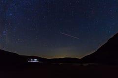 Luci di sala del cielo notturno Fotografia Stock