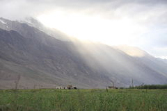 Luci di Zanskar Fotografia Stock