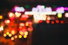 Luci e traffico dell'automobile fotografie stock