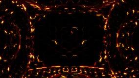 Luci esagonali dell'oro e rosse royalty illustrazione gratis