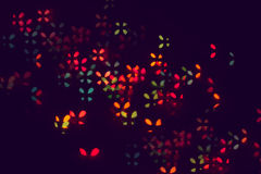 Luci festive defocused multicolori di scintillio immagini stock