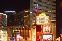Luci intense della striscia di Las Vegas Fotografie Stock