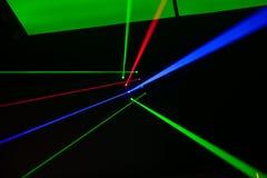 Luci laser, luci in scena Immagine Stock Libera da Diritti
