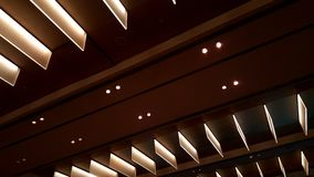 Luci lunghe del soffitto moderno Fotografia Stock Libera da Diritti