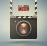 Luci, macchina fotografica, azione Immagini Stock