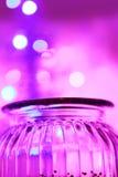 Luci magiche del barattolo e del bokeh di glas Fotografia Stock