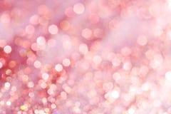 Luci morbide astratte eleganti festive rosa del fondo Immagini Stock