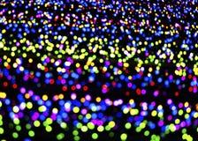 Luci multicolori confuse astratte Fotografia Stock