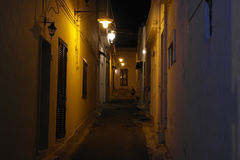Luci nella notte. Lights in the night in the streets sannicola Gallipoli Italy Royalty Free Stock Photos