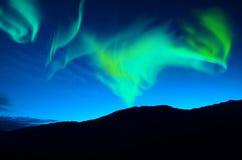 Luci nordiche (borealis dell'aurora) Fotografia Stock Libera da Diritti