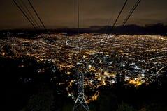 Luci notturne di Bogota Fotografia Stock