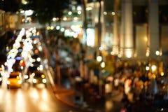 Luci notturne di grande città Fotografie Stock