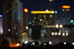 Luci notturne di grande città Fotografia Stock