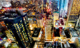 Luci notturne di New York City Fotografia Stock