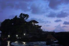 Luci notturne ed il cielo senza luna Fotografia Stock