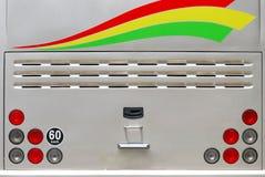 Luci posteriori del bus Fotografia Stock