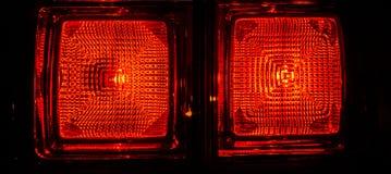 Luci posteriori dell'automobile Fotografie Stock Libere da Diritti