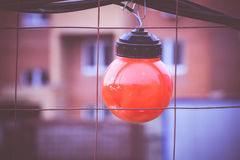 Luci rosse sul recinto Filtered Fotografia Stock Libera da Diritti