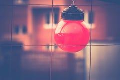 Luci rosse sul recinto Filtered Fotografia Stock