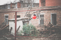 Luci rosse sul recinto Filtered Immagine Stock Libera da Diritti