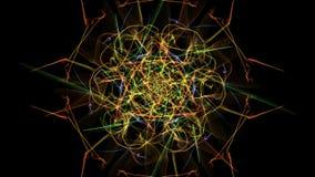 Luci simmetriche astratte al neon variopinte royalty illustrazione gratis