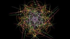 Luci simmetriche astratte al neon variopinte illustrazione di stock