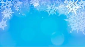 Luci su fondo d'argento - illustrazione di vettore Natale astratto leggero con i fiocchi di neve bianchi Immagine Stock Libera da Diritti