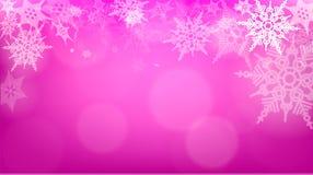 Luci su fondo d'argento - illustrazione di vettore Natale astratto leggero con i fiocchi di neve bianchi Fotografia Stock Libera da Diritti