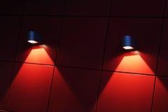 Luci sulla parete Fotografia Stock