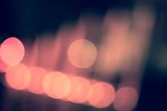 Luci vaghe Bokeh alle luci colorate di una metropoli Fotografia Stock Libera da Diritti