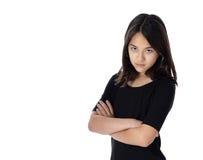 Luci vivide risolute della ragazza Immagine Stock Libera da Diritti