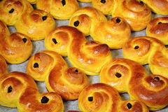 Lucia buns Royalty Free Stock Photos