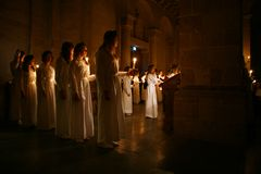 Lucia Festival in Sweden Stock Images