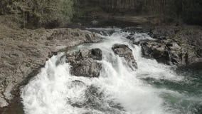 Lucia tombe chute de l'eau banque de vidéos